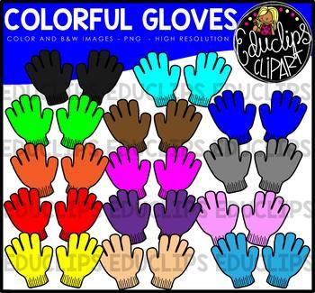 Clip art bundle educlips. Gloves clipart colorful