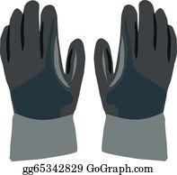 Glove clipart construction. Vector work gloves