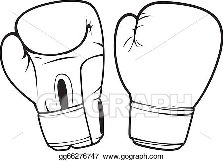 Art boxing drawing gg. Gloves clipart vector