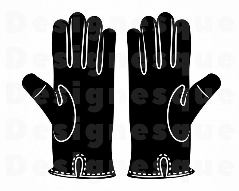 Leather gloves svg files. Glove clipart file
