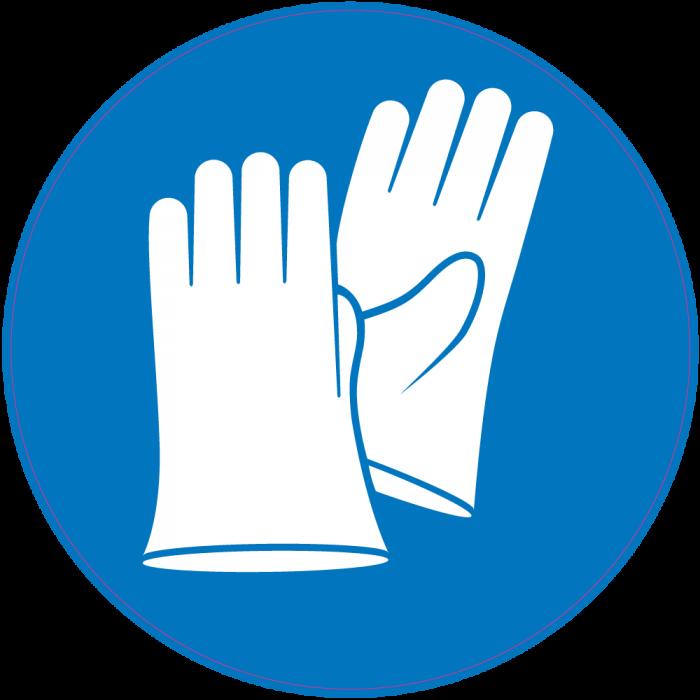 Glove clipart gants. Panneau obligation porter de