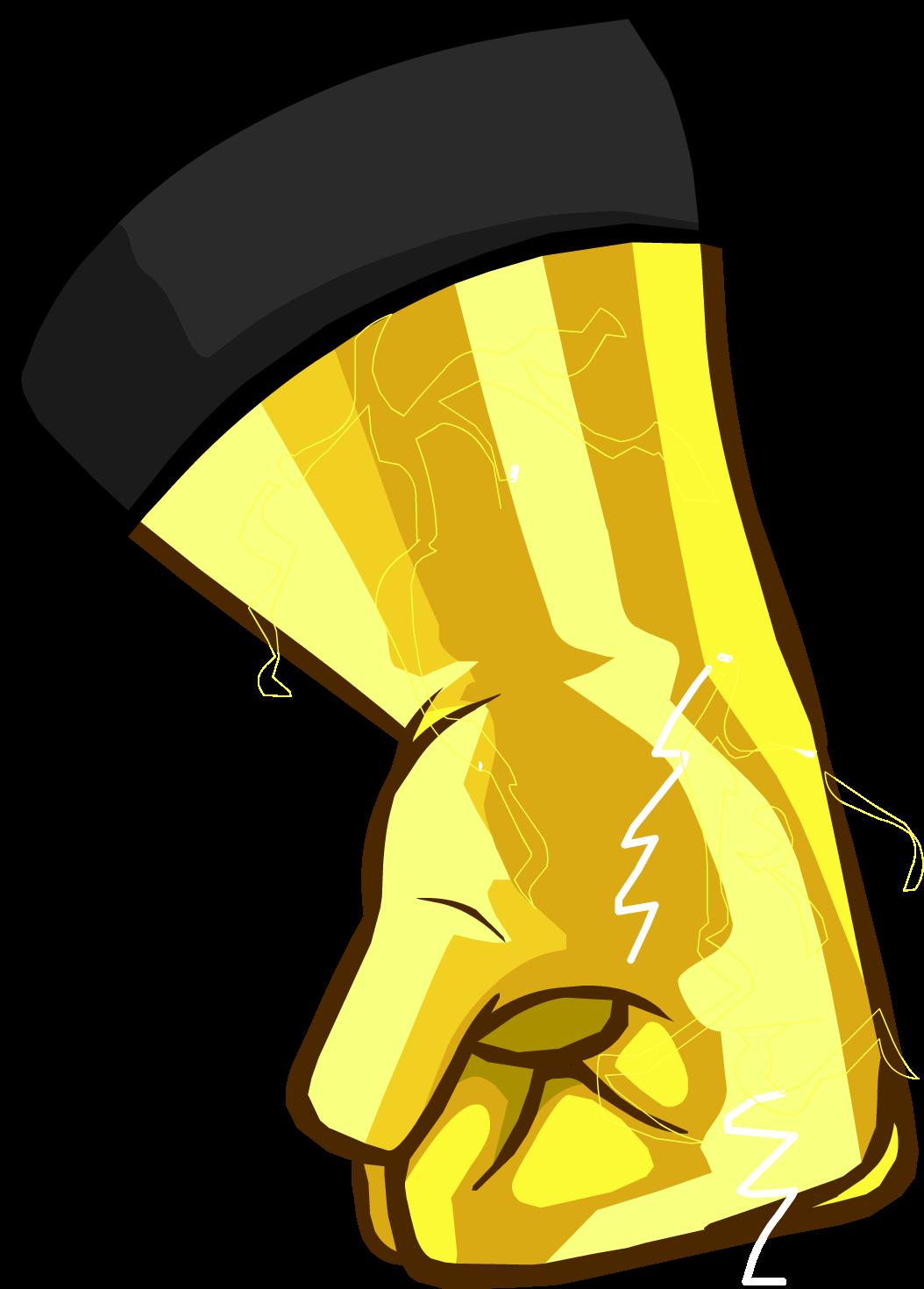 Electro blast gloves club. Glove clipart gants