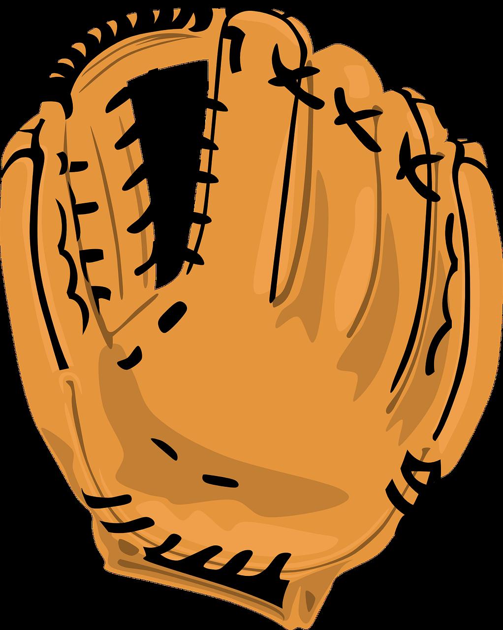 Glove clipart gants. Baseball mitt leather transparent