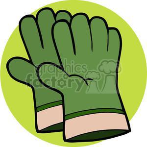 Green gloves royalty free. Glove clipart gardening glove