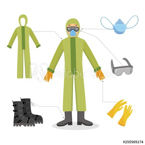 Glove clipart goggles. A man and worker