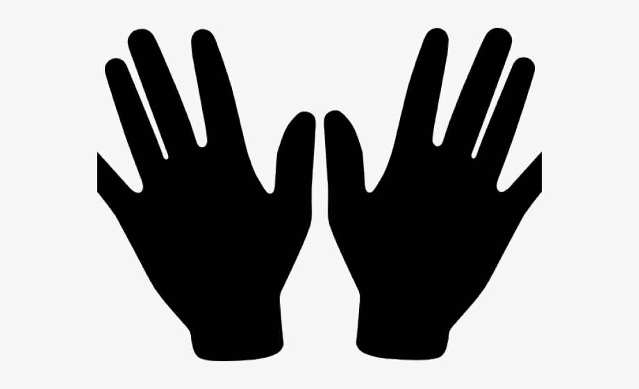 Two hands clip art. Handprint clipart right hand man