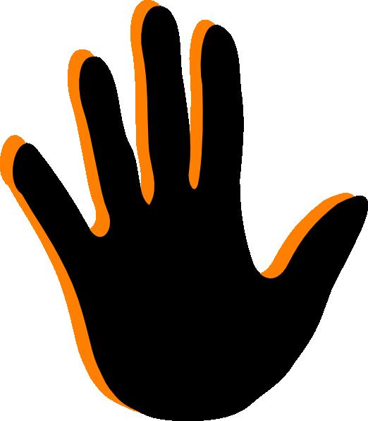 Handprint clipart hand foot. Clip art at clker