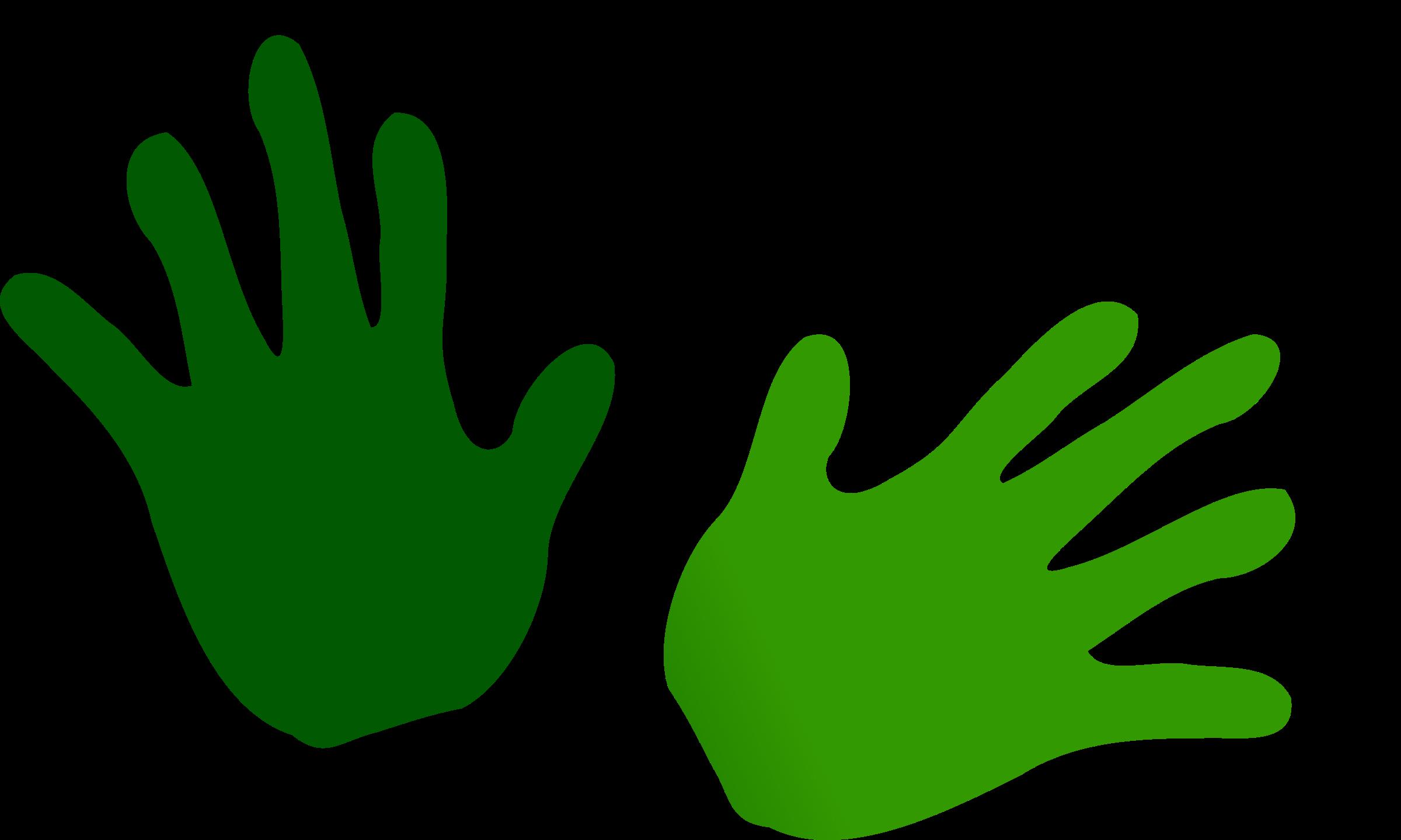 Green big image png. Hands clipart open