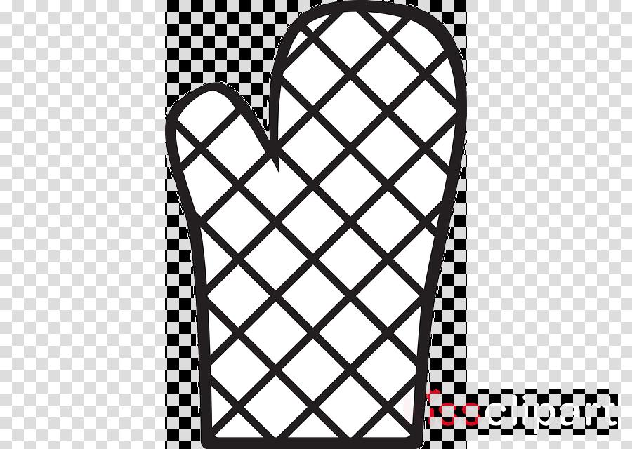 Cartoon line design transparent. Gloves clipart kitchen glove