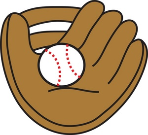 Baseball image clip art. Glove clipart mit