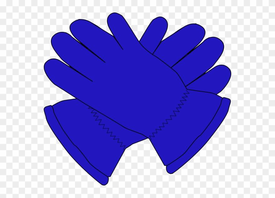 Gloves clipart blue glove. Clip art at clker