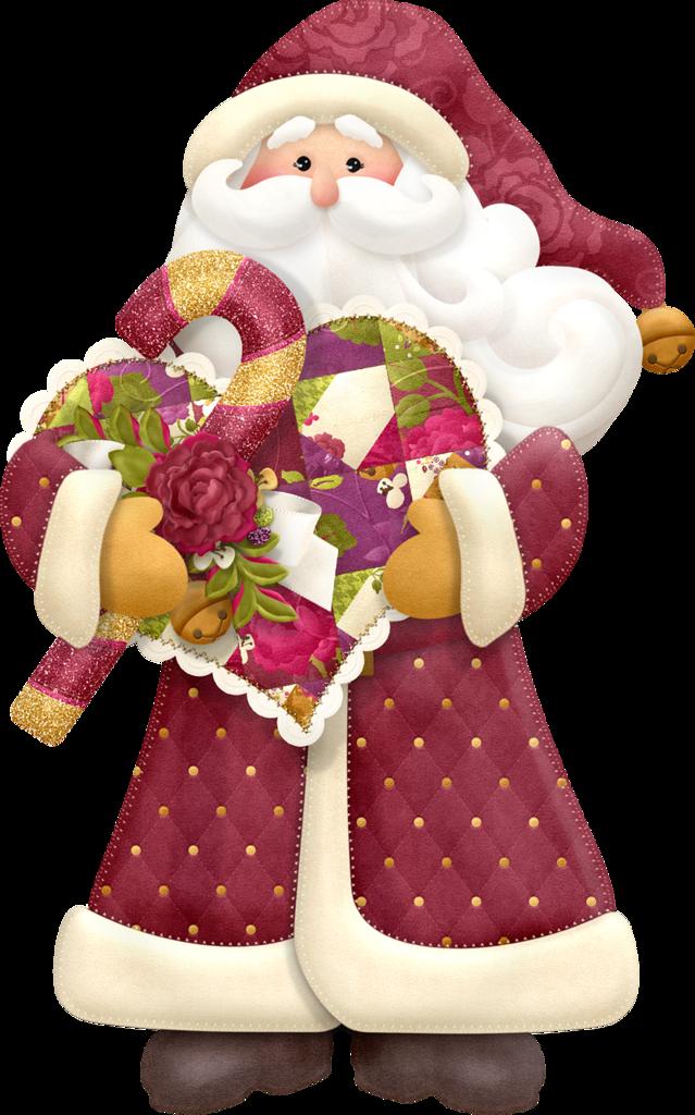 Christmas clip art. Gloves clipart santa claus