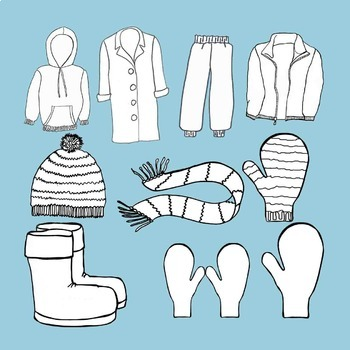 Winter clothing clip art. Mittens clipart snow pants