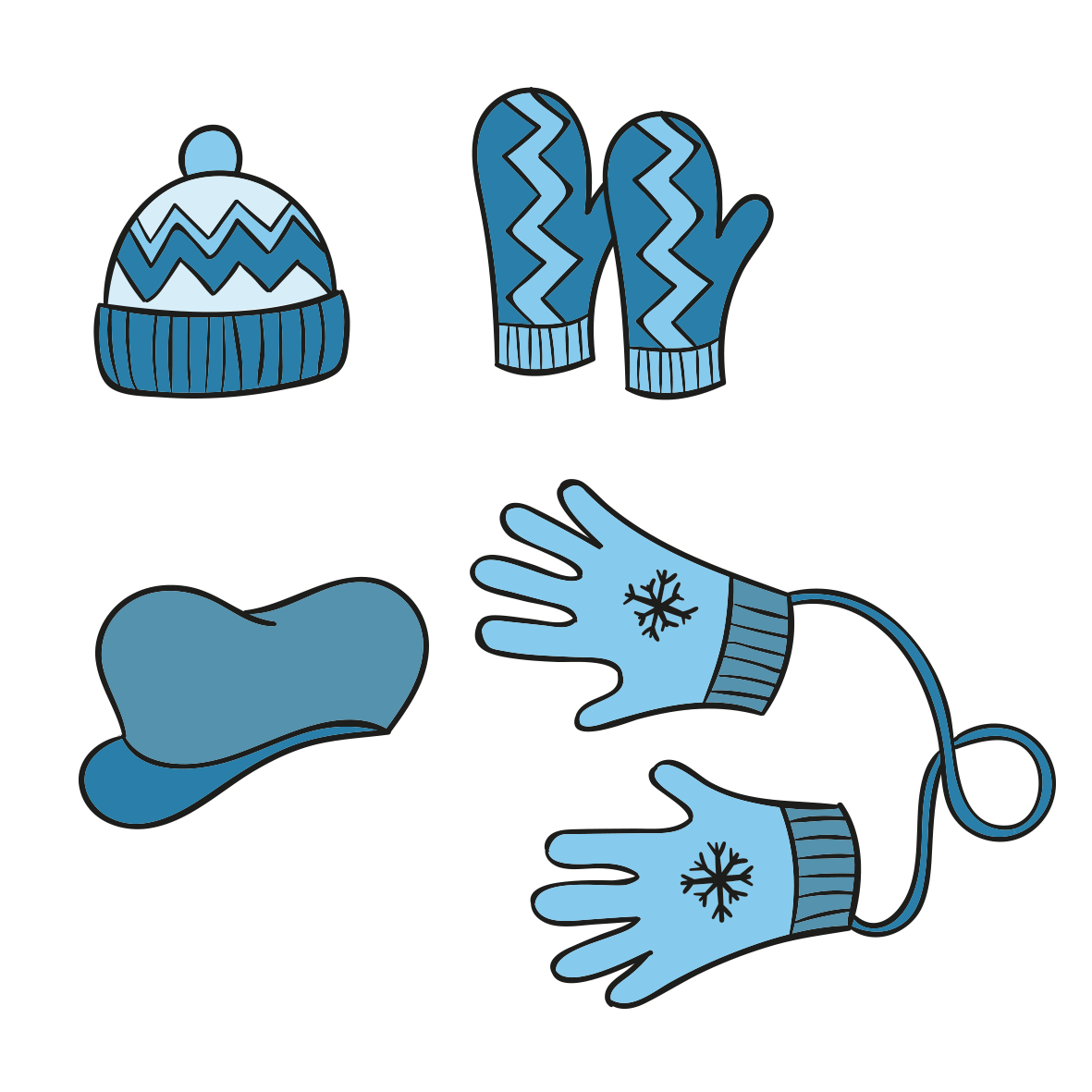 Gloves clipart snow jacket. Winter clothing glove blue