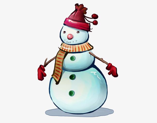 Red snow . Gloves clipart snowman