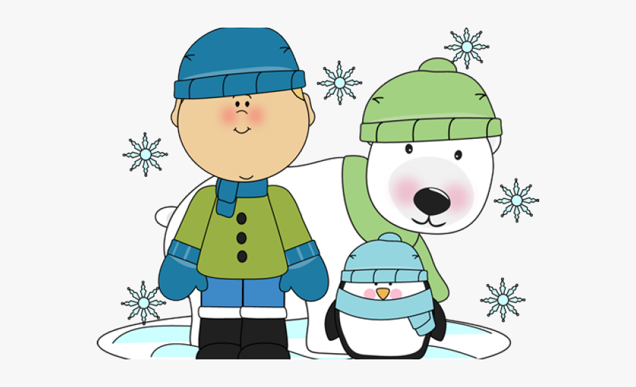 Free winter bears . Gloves clipart snowy clothes