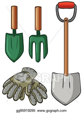 Gloves clipart tool. Vector gardening tools with