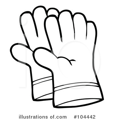 Gardening illustration by hit. Gloves clipart tool
