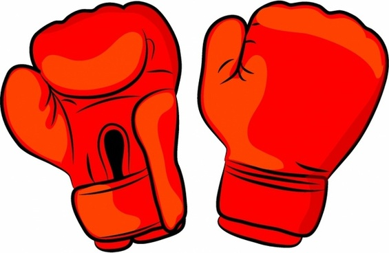 Free boxing gloves clip. Mittens clipart vector