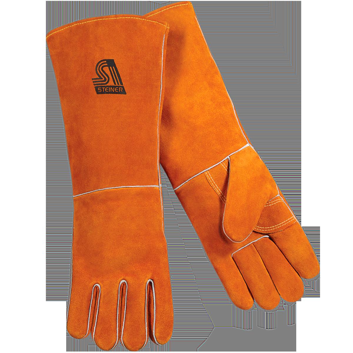 Standard shoulder split cowhide. Glove clipart welding glove