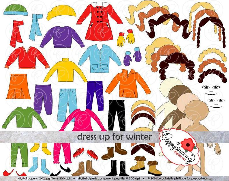Mittens clipart paper. Dress up for winter