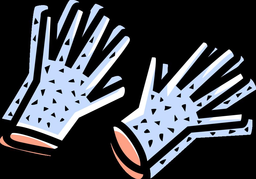 Safety gloves vector image. Glove clipart work glove