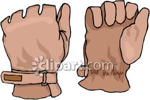 Gloves clipart work glove. Leather royalty free picture