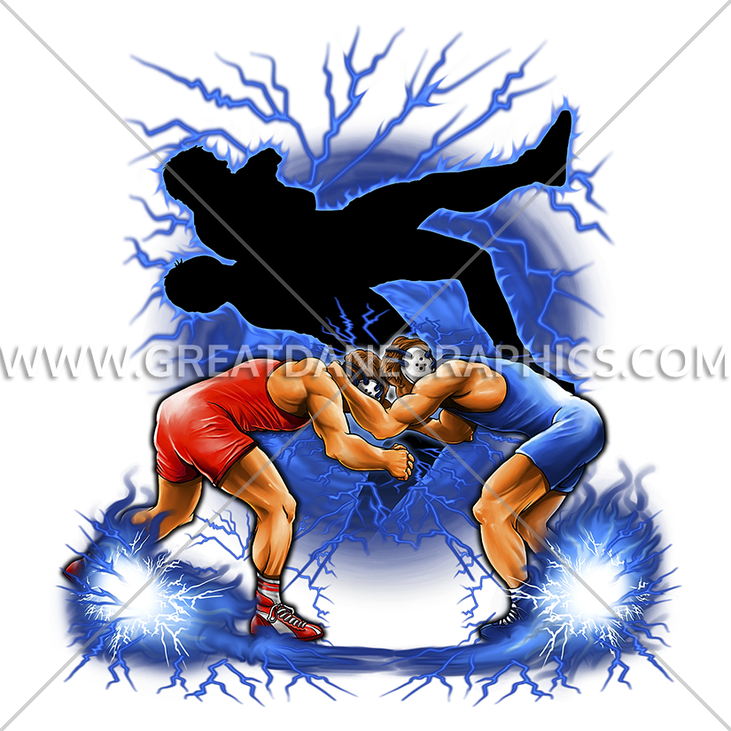 Wrestling silhouette production ready. Wrestlers clipart vector