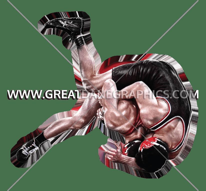 Flip production ready artwork. Glove clipart wrestling