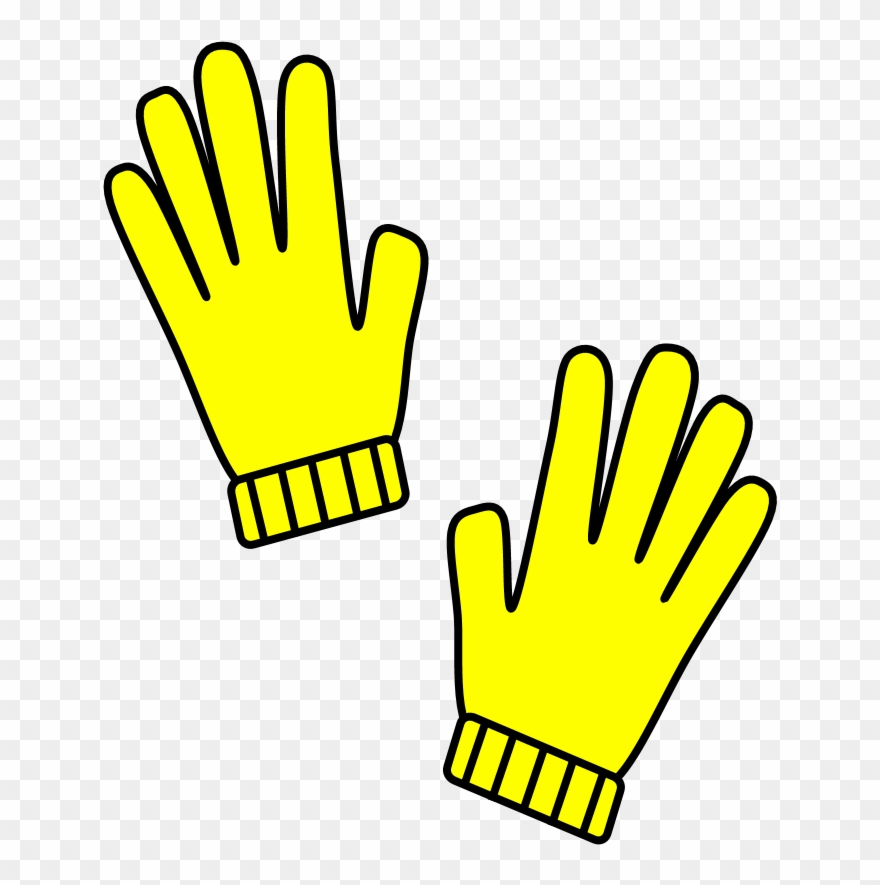 Png download . Gloves clipart yellow glove