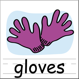 Gloves clipart. Clip art basic words