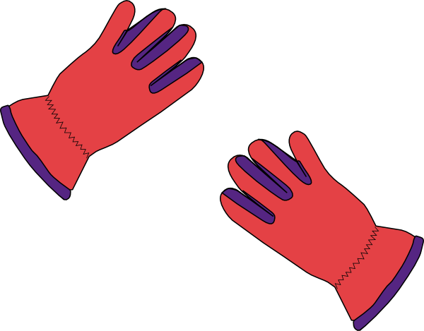 clip art at. Gloves clipart