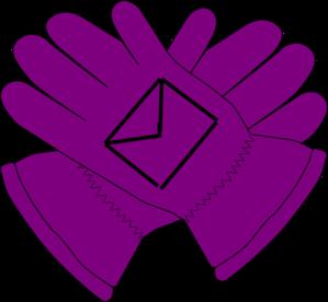 Gloves clipart. Purple envelope clip art