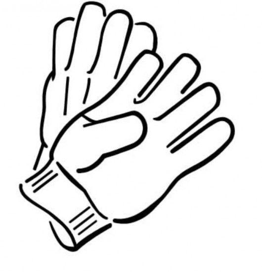 Clip art work . Gloves clipart
