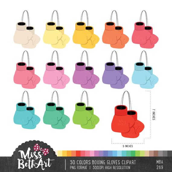 Gloves clipart colorful.  colors boxing instant
