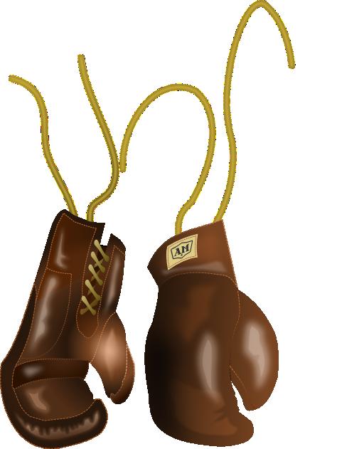 Santa clipart boxing. Vintage leather gloves i