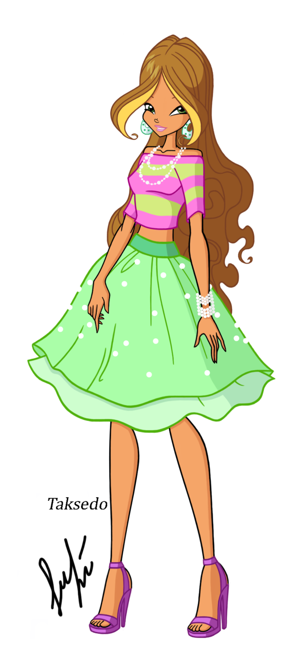 Winx flora glam glitter. Gloves clipart outfit