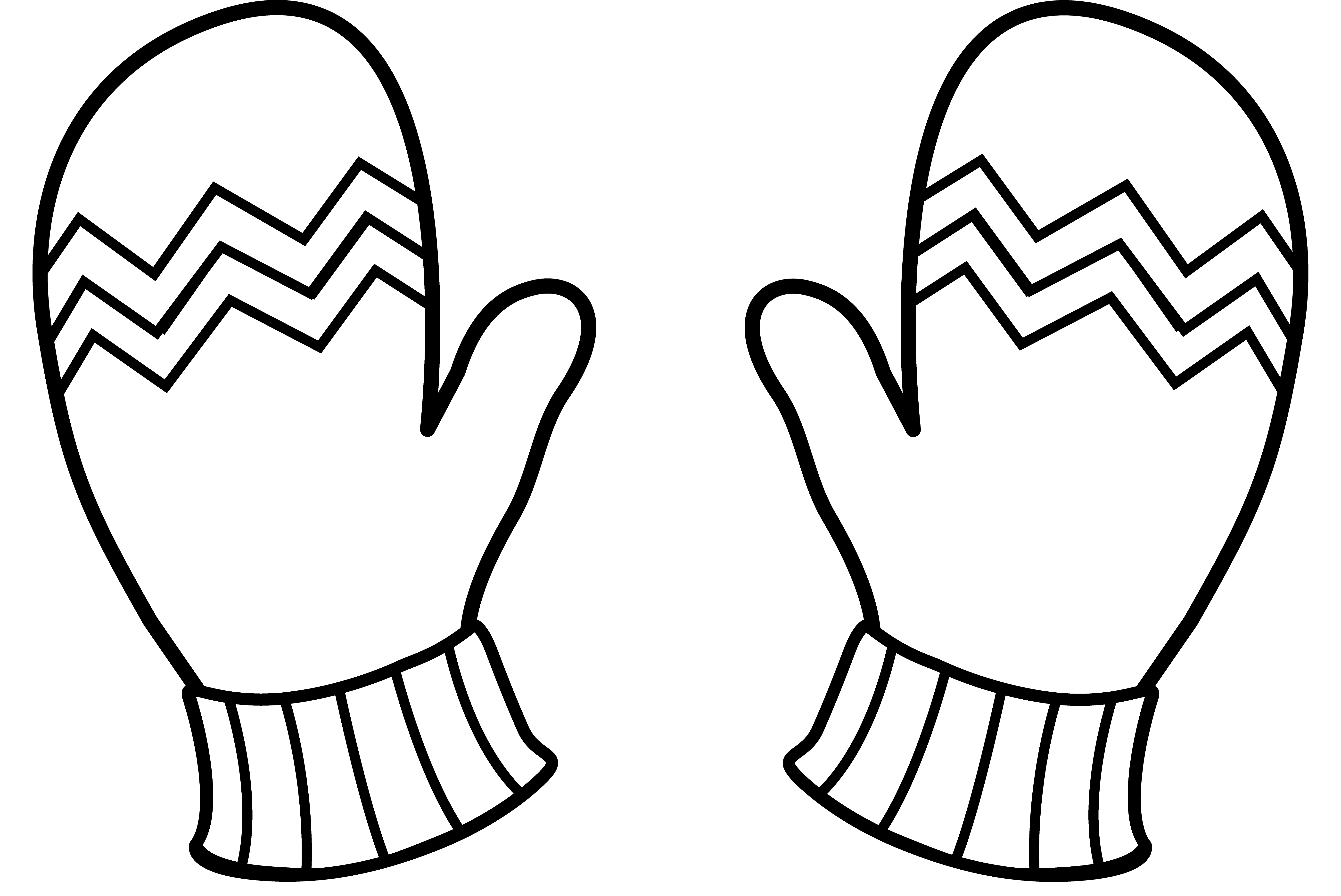 Mitten color page sanfranciscolife. Mittens clipart outline