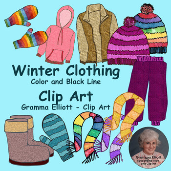 Winter clothing clip art. Gloves clipart snow jacket
