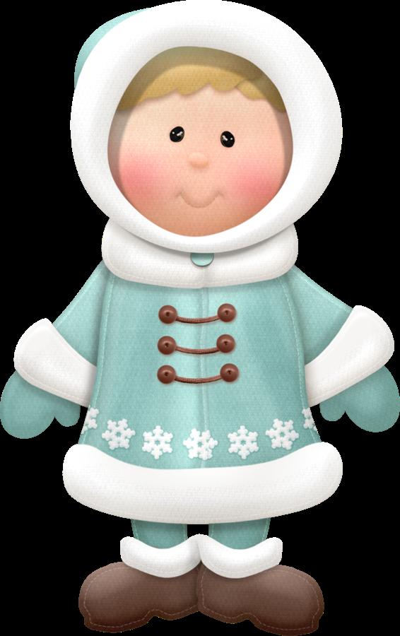 Winter clipart boy. Little girl or clip