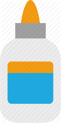 Glue bottle png. Symbolicons education by elmers
