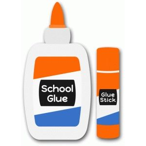 Glue clipart. School pinterest silhouette design