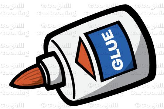 Glue clipart. Bottle stock illustration cartoon