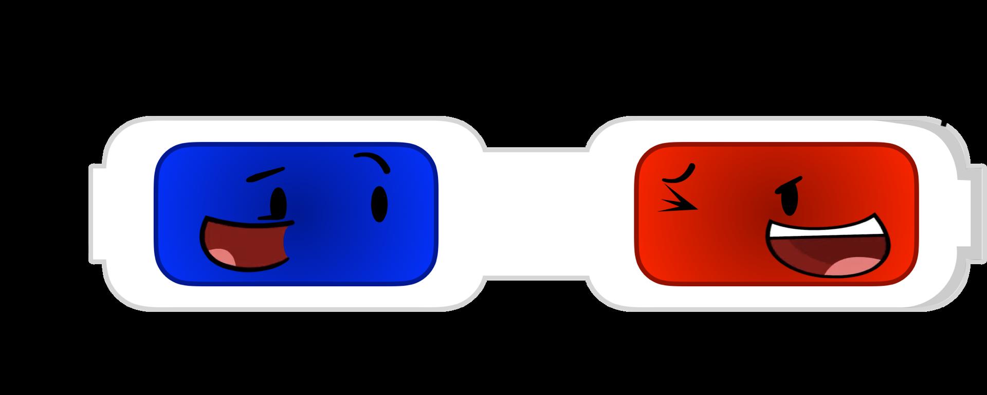 Glue clipart bfdi. Image updated d glasses