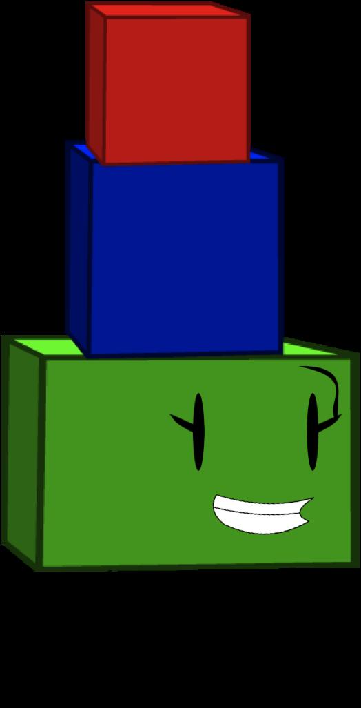 Building blocks object pandemonium. Glue clipart bfdi