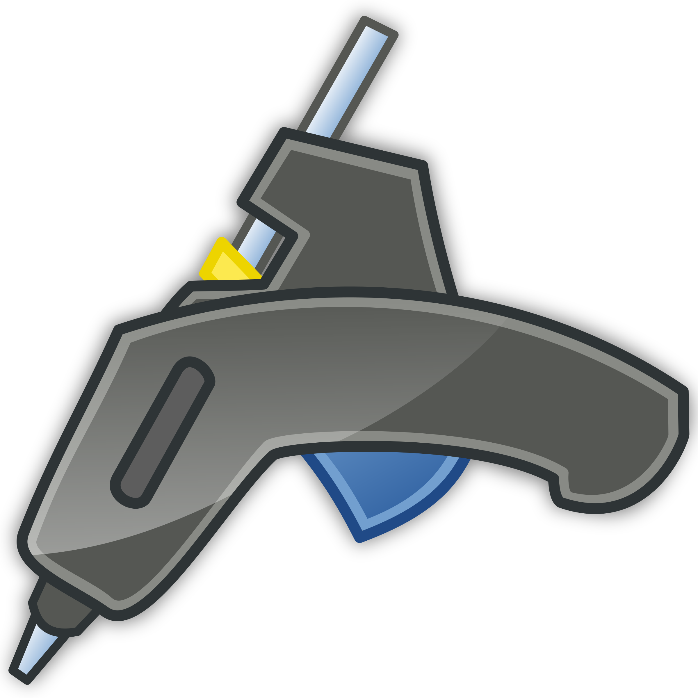 Gun tango icon with. Glue clipart clip art