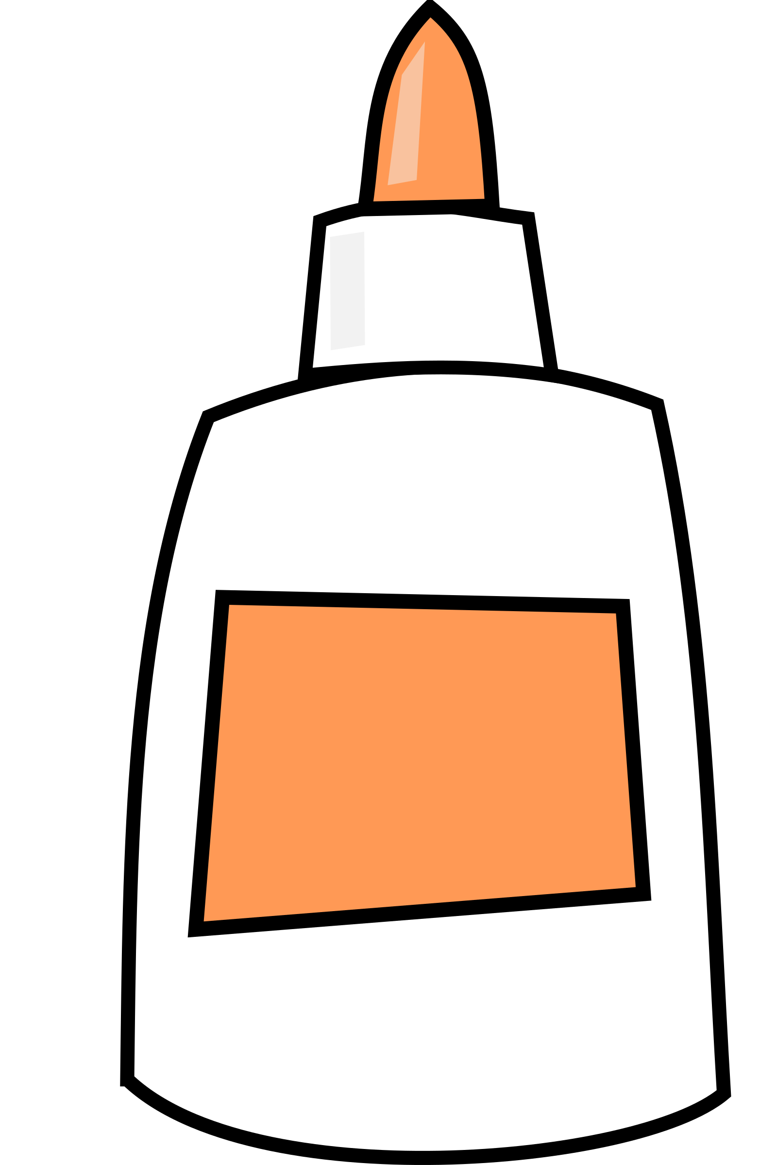 Gulae ubisafe. Glue clipart coloring page
