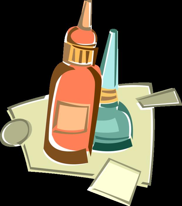 Glue clipart glue bottle. Adhesive vector image illustration