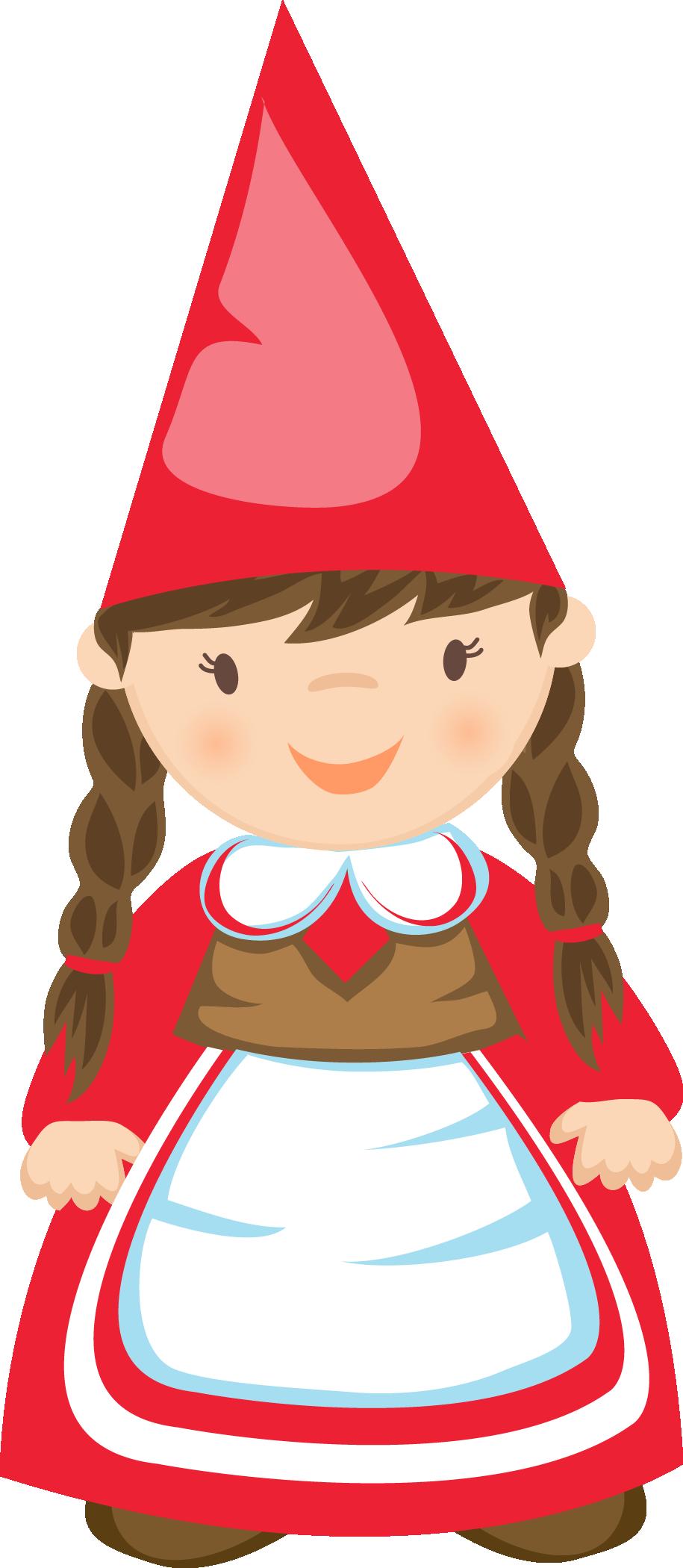 Gnome clipart. Girl clip art gnomes