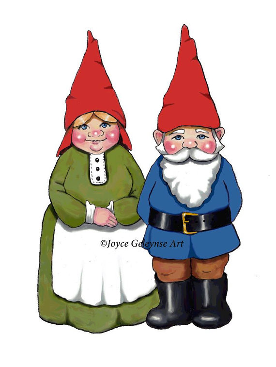 Gnome clipart. Hand drawn commercial use